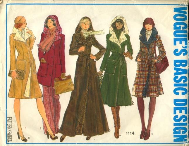 Vogue Patterns Faux Fur-Lined Hooded Coat 1114-vintage pattern ...